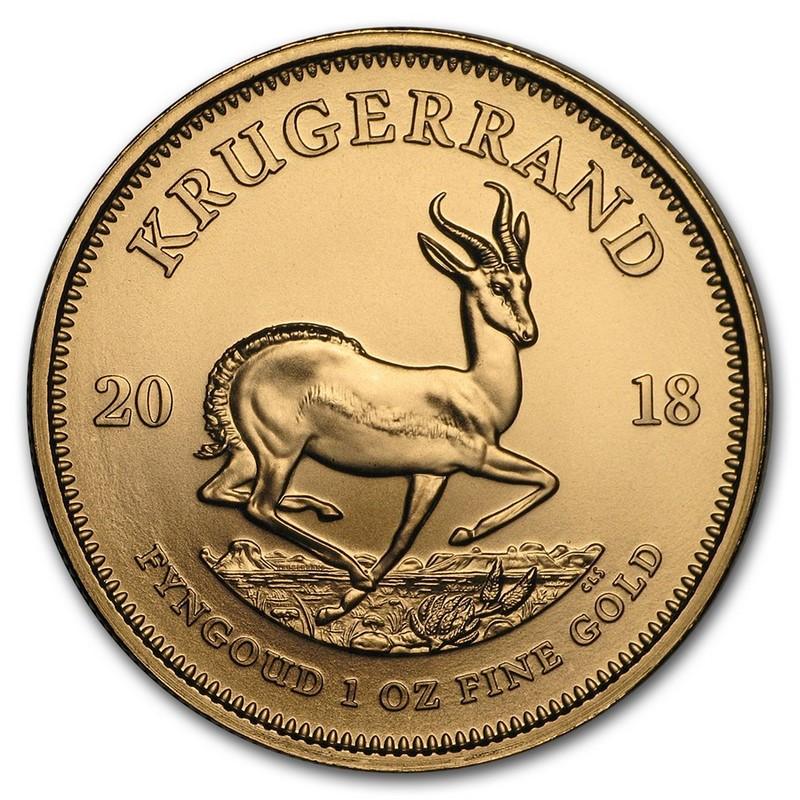 Moneda Krugerrand De Oro 1 Oz 2018