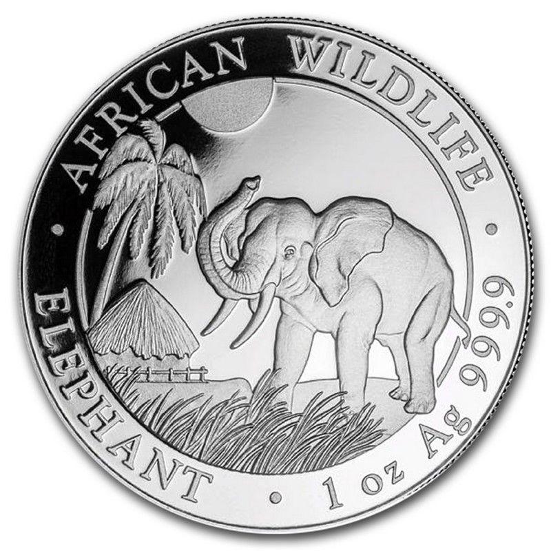 Moneda Elefante De Plata 1 Oz 2017 Dracma Metales De