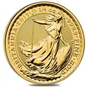 Moneda Britannia De Oro 1 4 Oz 2019