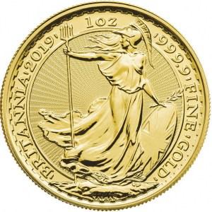 Moneda Britannia De Oro 1 Oz 2019